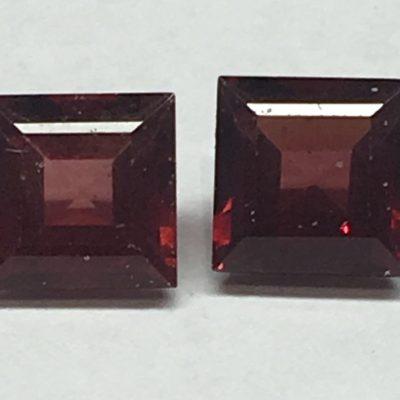 Square Rhodolite Garnets