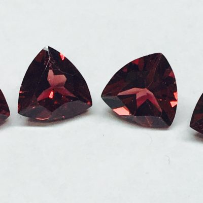 Triangle Rhodolite Garnets Set4