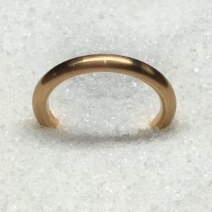 Lady's 18k Rose Gold Plain Band
